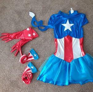 Captain America custom w/ knee high stockings, g